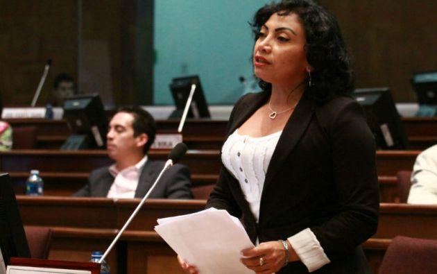 Mery Zamora denunció como montaje las fotos íntimas filtradas en redes sociales. Foto: Asamblea Nacional