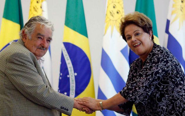 """""""La integración precisa un liderazgo, y ese liderazgo se llama Brasil"""", dijo Mujica. Foto: REUTERS"""