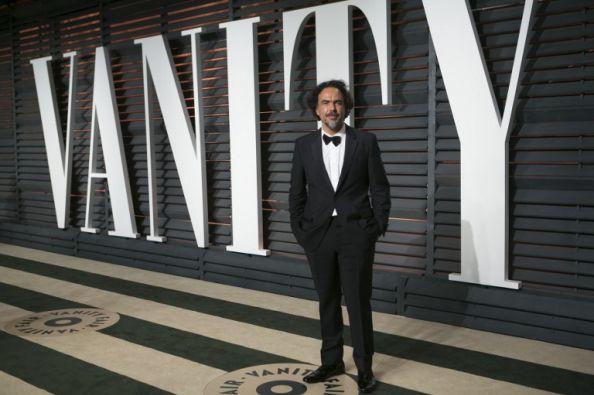 Alejandro González Iñarritu llegando a la fiesta. Foto: AFP
