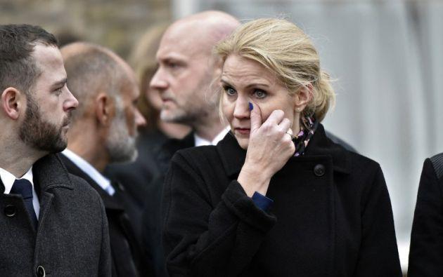 La primera ministra de Dinamarca, Helle Thorning-Schmidt asistió al funeral. Foto: AFP