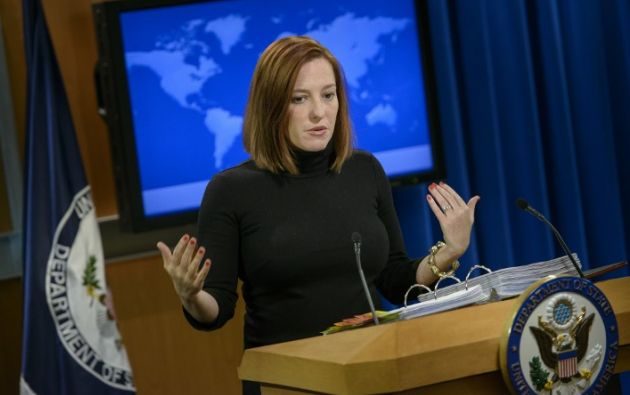 Jen Psaki, portavoz del Departamento de Estado. Foto: AFP