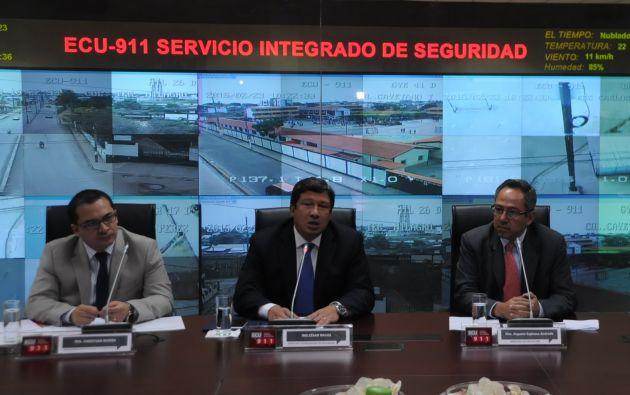 Las autoridades involucradas en el desarrollo de este plan, durante su presentación. Foto: Cortesía / MinEduc.
