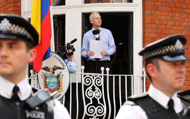 El australiano permanece refugiado en la Embajada de Ecuador en Londres desde junio de 2012. Foto: REUTERS
