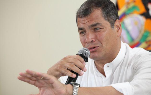 """Correa insistió en que un alza """"razonable"""" de los precios, mediante un recorte de producción, puede también ser aceptada por los países consumidores. Foto: Presidencia de Ecuador"""