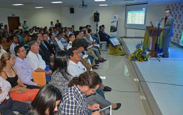 El gerente de la estatal petrolera presentó un informe sobre la gestión de 2014. Foto: Petroamazonas EP