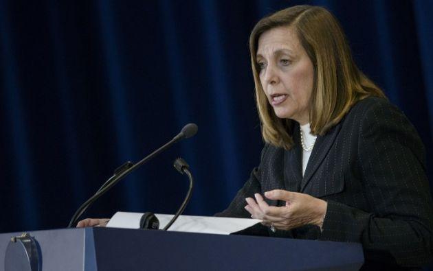 Jefa de la delegación cubana, Josefina Vidal. Foto: AFP