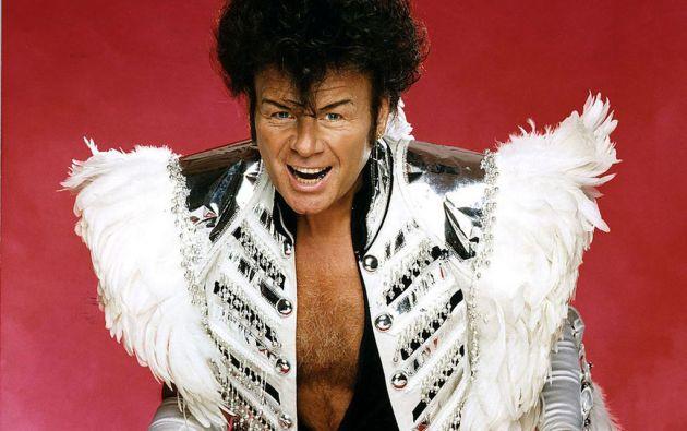 """Glitter (Paul Francis Gadd) saltó a la fama en los años 70, en la era del """"glam rock"""""""