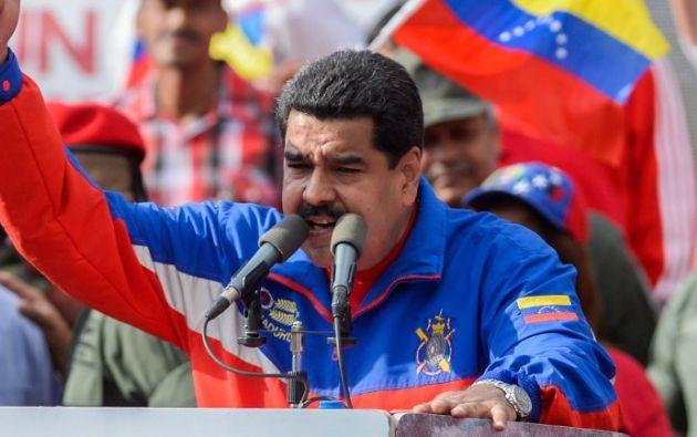 Maduro en su discurso. Foto: AFP