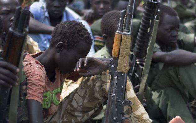 El Fondo para la Infancia de la ONU afirmó que 89 adolescentes habían sido capturados. Foto: AFP