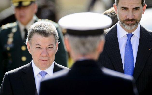 Santos dio estas declaraciones en su visita oficial a Madrid. Foto: AFP