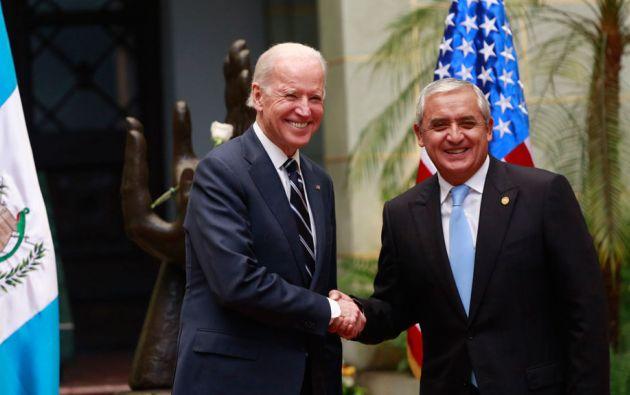 Joseph Biden y Otto Pérez Molina. Foto: REUTERS