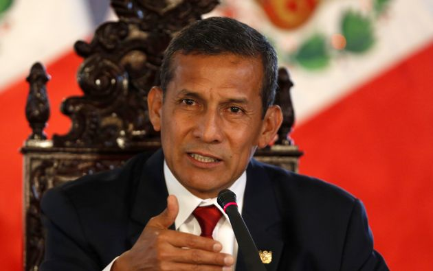 Ollanta Humala en un diálogo con los medios, este 2 de marzo en Lima. Foto: REUTERS