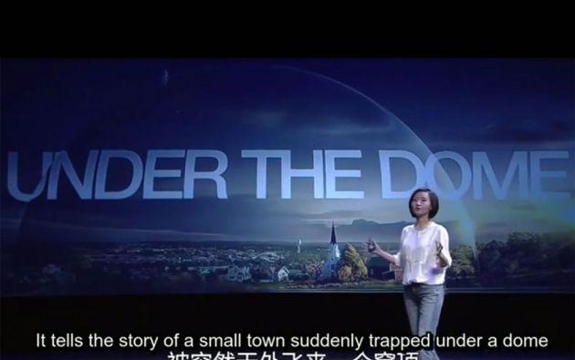 "Chai Jing, realizadora del documental ""Under The Dome""."