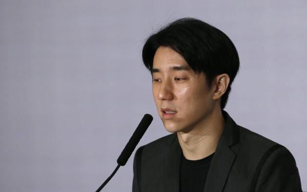 Jaycee Chan durante una rueda de prensa luego de salir de prisión, en febrero pasado. Foto: REUTERS.