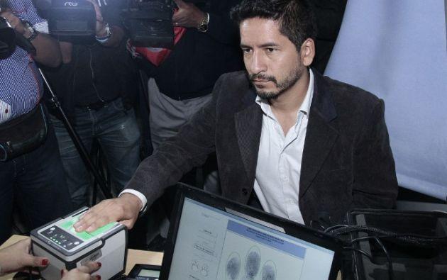 Fausto Eloy Basantes Cárdenas en el Registro Civil. Foto: AFP