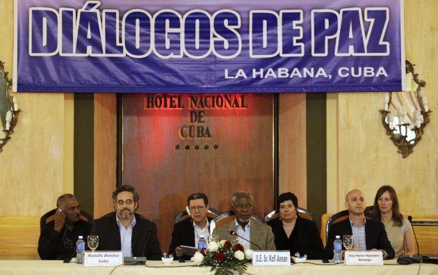 Reunión de los diálogos de paz realizada el pasado 27 de febrero. Foto: REUTERS
