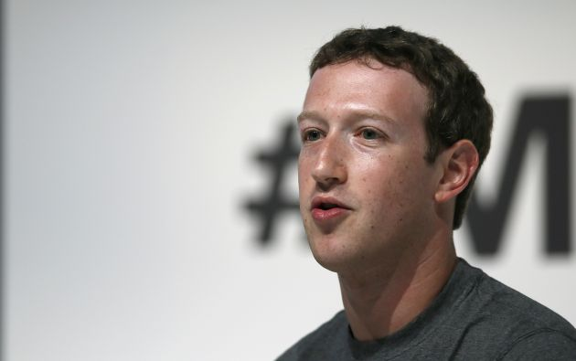 Zuckerberg durante su presentación en el Mobile World Congress en Barcelona. Foto: REUTERS