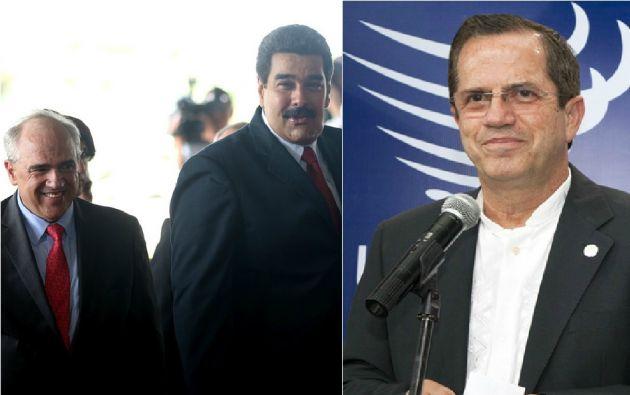 Ernesto Samper, Nicolás Maduro y Ricardo Patiño.