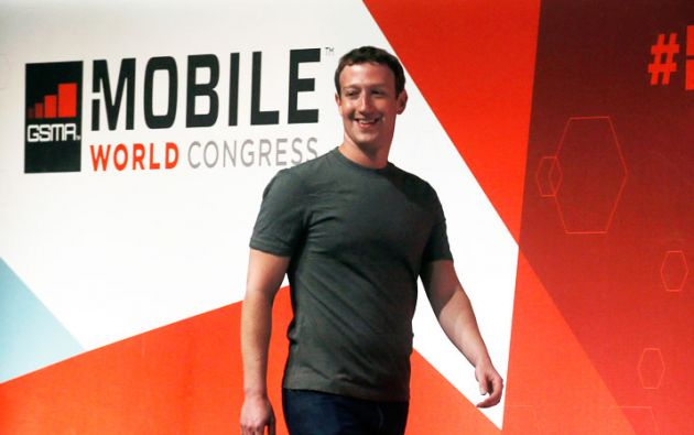Mark Zuckerberg en la Mobile World Congress 2015. Foto: REUTERS