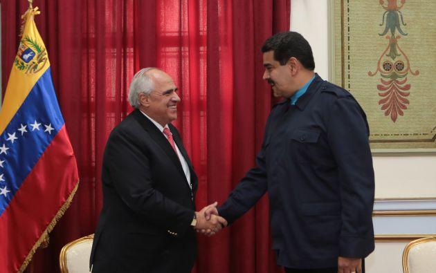 Ernesto Samper y Nicolás Maduro. Foto: REUTERS