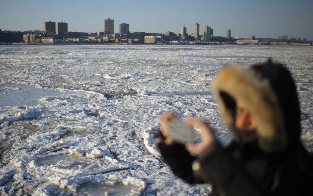 Hudson River congelado. Foto. REUTERS