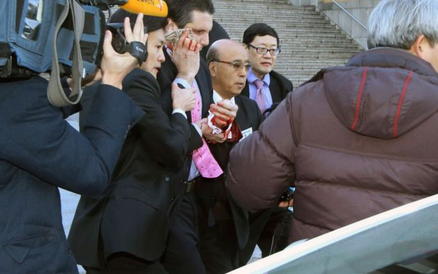 El embajador Mark Lippert fue agredido durante un desayuno en el Centro de Arte Sejong. Foto: REUTERS