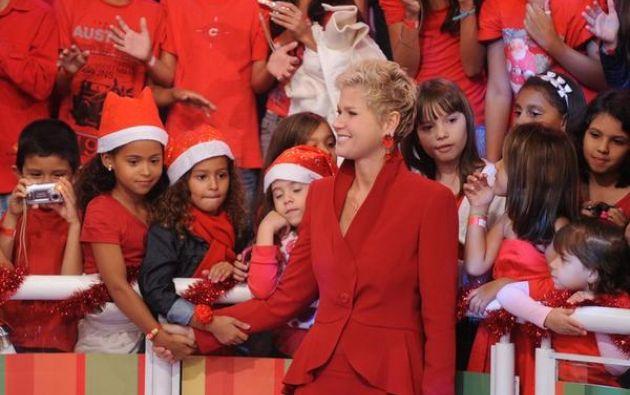 Xuxa en un especial de Navidad en 2012. Foto: Twitter / Xuxa