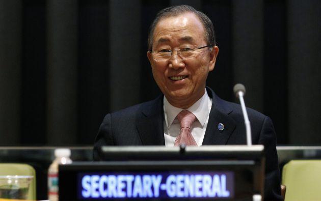 Ban Ki-Moon durante la Asamblea General 69 en Nueva York, realizada este 6 de marzo. Foto: REUTERS