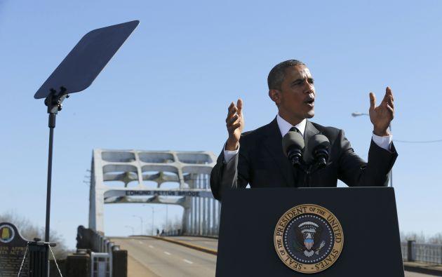 Obama durante su discurso. Foto: AFP