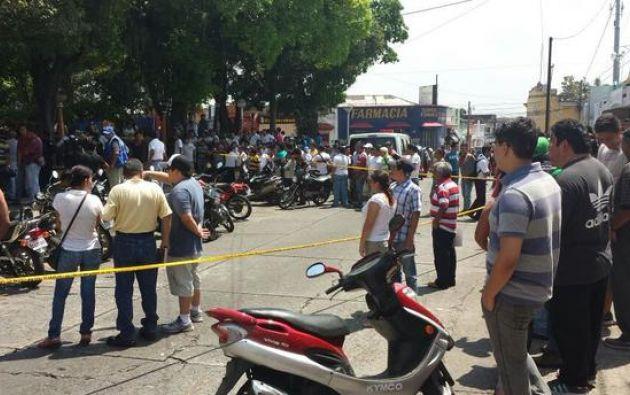 Una toma de la escena del crimen. Foto: Prensa Libre