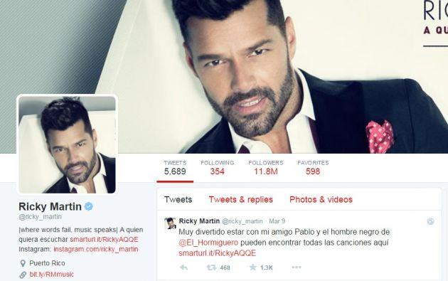 El cantante tiene más de 11 millones de seguidores en Twitter. Foto: Captura de pantalla.