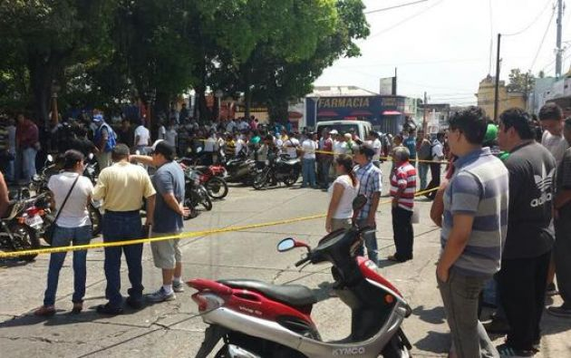 Una toma del lugar donde mataron a los dos periodistas. Foto: Twitter / Prensa Libre