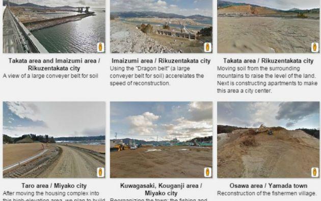 Se incluyen imágenes de trabajos en muelles, escuelas, guarderías y demás estructuras afectadas por el tsunami de marzo de 2011.
