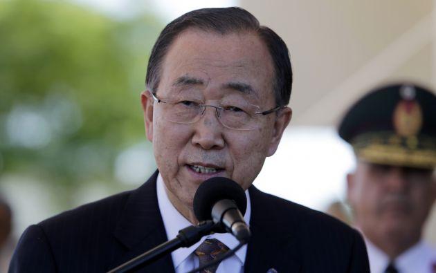 Ban Ki-moon recordó que la guerra civil de Siria ha causado unos 220.000 muertos. Foto: REUTERS