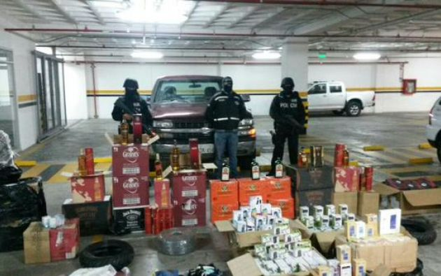 Es la primera captura de mercadería que ingresó luego de entrar en vigencia las nuevas salvaguardias en el país. Foto: Ministerio del Interior.