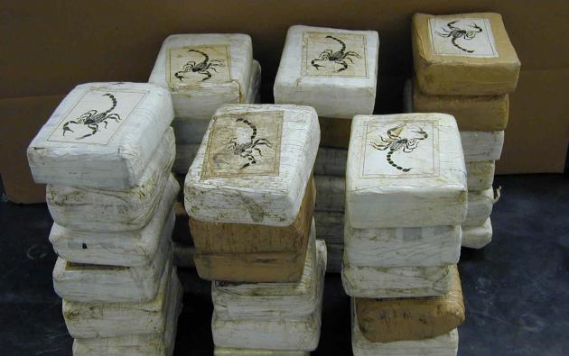 La cocaína era transportada por carretera hasta Guayaquil y desde allí enviada por vía marítima a Estados Unidos y varios países de Centroamérica. Foto referencial.