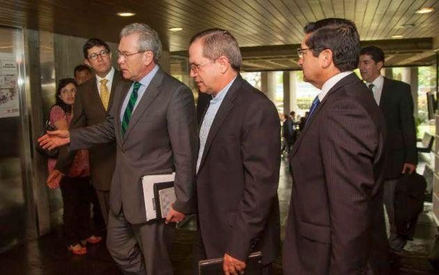 La información fue proporcionada durante una reunión del Consejo Andino de cancilleres en la sede de la CAN en Lima. Foto: Cancillería de Ecuador