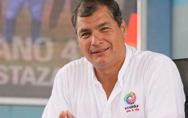 El mandatario ecuatoriano consideróa que el presidente de EEUU, Barack Obama, se extralimitó. Foto: Presidencia de Ecuador