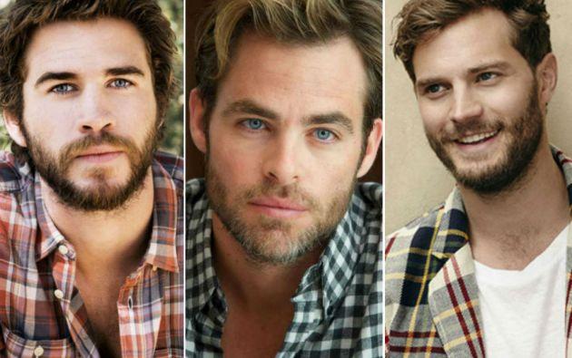 Los actores Liam Hemsworth, Chris Pine y Jamie Dornan adoptaron el look barbado y con camisas de cuadros que caracteriza a los lumbersexuales.