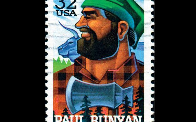 Paul Bunyan, personaje ficticio perteneciente al folclor norteamericano. Una referencia clásica de cómo, supuestamente, se ve un leñador.