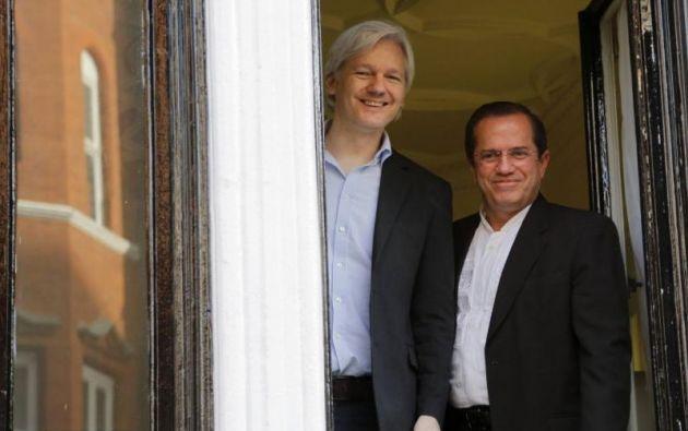 Este lunes el fundador de Wikileaks cumplirá 1.000 días refugiado en la embajada de Ecuador en Londres. Foto: REUTERS