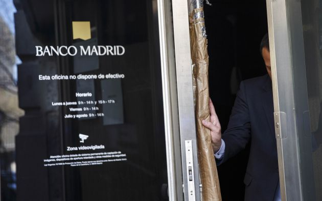 La entidad fue intervenido el pasado jueves por el Banco de España. Foto: REUTERS