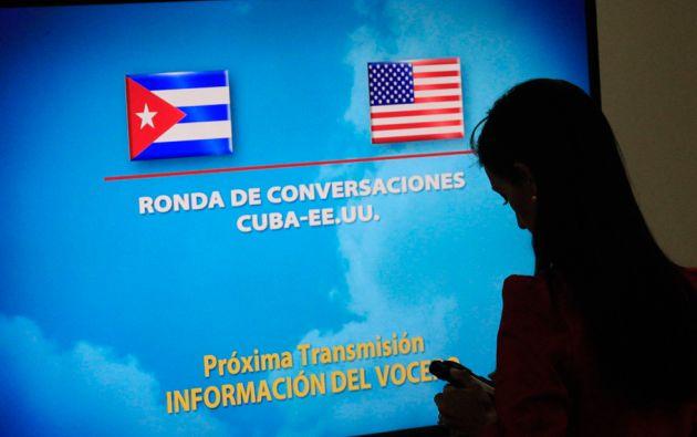 Los equipos negociadores concentran sus esfuerzos en acordar la apertura de embajadas lo antes posible. Foto: REUTERS