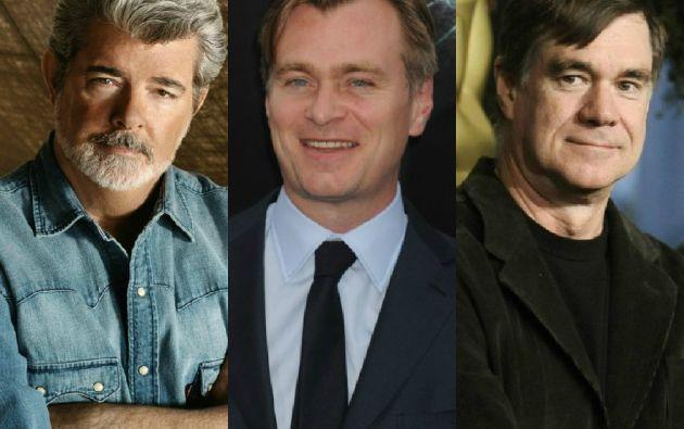 George Lucas, Christopher Nolan y Gus Van Sant.