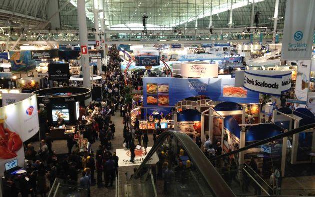 El Seafood Expo atrae a más de 20.000 compradores y proveedores de mariscos.