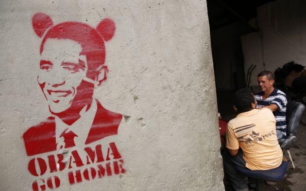 Un graffiti de Obama en las calles de Caracas. Foto: REUTERS.