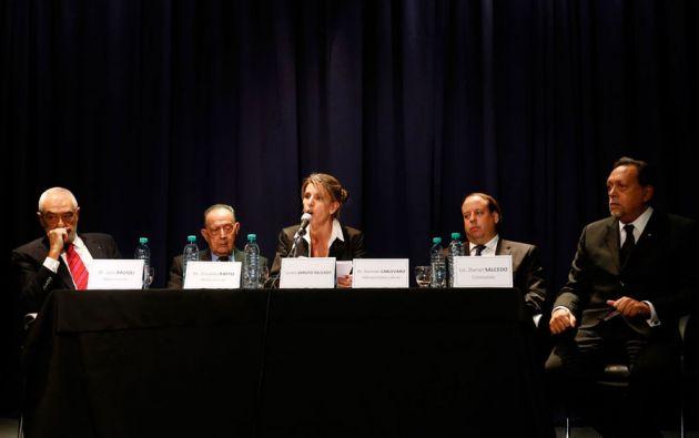 """""""Fue un magnicidio. Lo mataron"""", dijo la exesposa de Nisman, basada en una investigación paralela encargada a peritos privados. Foto: REUTERS"""