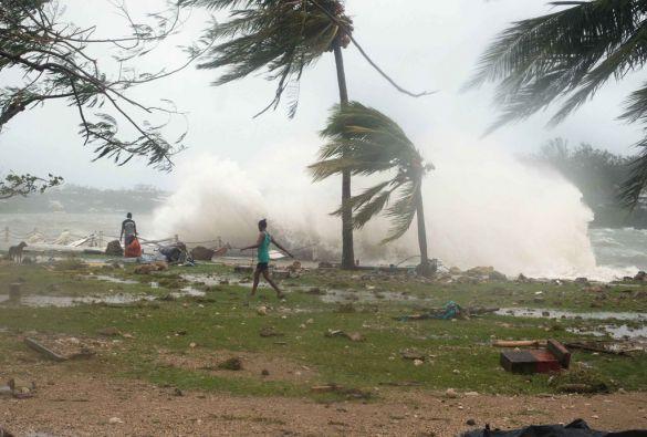 El ciclón Pam azotó la isla de Vanuatu. Se registraron 24 muertos. Foto: REUTERS