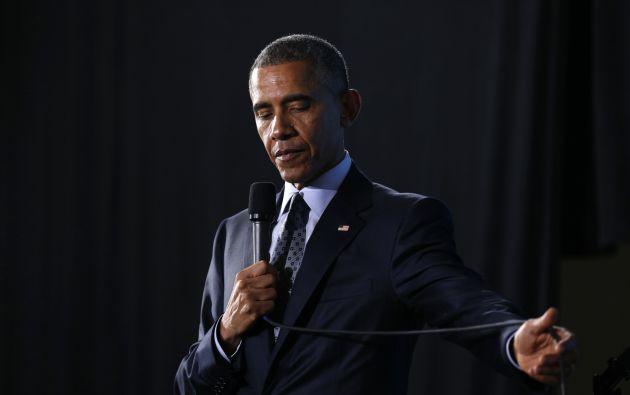 Obama durante su intervención en Cleveland. Foto: REUTERS.