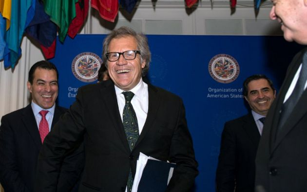 Luis Almagro asumirá la secretaría de la OEA a partir del 26 de mayo, por un periodo de cinco años. Foto: AFP